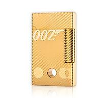 Hộp Quẹt Bật Lửa Xăng Mini DX15V Họa Tiết Kẻ Chéo Khắc Chữ 007 Có Lỗ Tròn Nhỏ Màu Vàng