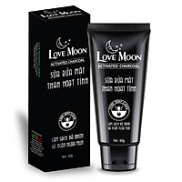 Sữa Rửa Mặt THAN HOẠT TÍNH Love Moon Cao Cấp CHÍNH HÃNG ngăn ngừa mụn cám, giảm thiểu cặn bã tế bào chết - Hộp 60g