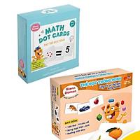 Combo Thẻ Học Thông Minh Glenn Doman Bộ 59 Thẻ dạy trẻ học toán + Bộ 100 thẻ thế giới xung quanh
