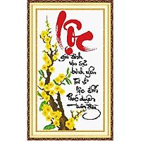 Tranh thêu chữ thập Lộc DLH-222293