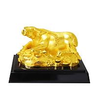 Tượng Kim Ngưu mạ vàng size nhỏ - TKNV01 - Linh vật Trâu đúc đồng mạ vàng 24K cao cấp