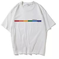 áo thun tay lỡ nam nữ Stee RAINBOW 3 size M L XL chất liệu vải cotton Ngầu Unisex  PhillipStore