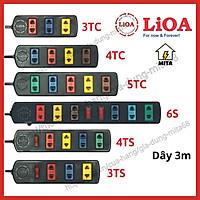 Ổ Cắm Điện LiOA Phổ Thông - Ổ Cắm Điện 3 lỗ - 4 lỗ - 5 lỗ - 6 lỗ - dài 3m - MITA