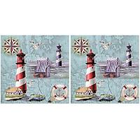 Combo 2 Xấp Khăn Giấy Ăn Trang Trí Bàn Tiệc Tissue Napkins Design Ti-Flair 370230 (33 x 33 cm) - 40 tờ