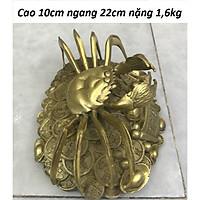 Tượng Cua chiêu tài chất liệu đồng thau MS11g