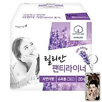 Băng vệ sinh Lilian hương Lavender hàng ngày Hàn Quốc (18cmx20miếng) tặng móc khoá
