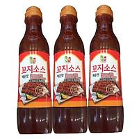 Combo 3 chai Nước sốt thịt xiên Chungwoo vị cay x 460g/chai