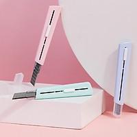 Dao rọc giấy cute màu pastel bỏ túi lưỡi dao SK5 cao cấp Nusign - 3 màu - 2038