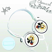 Tai nghe chụp in hình Naruto anime chibi cắm dây có mic