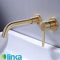 Vòi rửa lavabo gắn tường nóng lạnh bằng đồng cao cấp LINKA LI-VOI0021