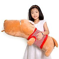 Gấu bông chó puco nằm lớn 1m2