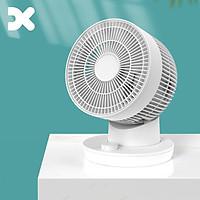 Quạt lưu thông không khí DX thiết kế lại với tốc độ 3 chiều gió 30dB tiếng ồn thấp gió mạnh hoạt động yên tĩnh di động mini không khí