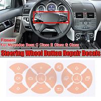 Steering Wheel Button Repair Stickers For Mercedes Benz C Class E Class G Class