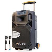 Loa kẹo kéo karaoke bluetooth Sansui SG1-15 - Hàng nhập khẩu