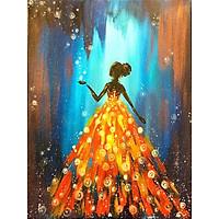 Bimkole 5D Diamond Painting Color Skirt Woman Full Drill DIY Rhinestone Pasted with Diamond Set Arts Craft Decorations (12x16inch)