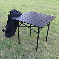 Bàn nhôm gấp gọn kích thước (58x58x58cm) dùng để đi du lịch dã ngoại hoặc cắm trại ngoài trời BB7555