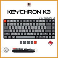 Bàn phím cơ Keychron K3V2  Led RGB Switch Quang học Bản nhôm (Optical Switch) - Hàng Chính Hãng