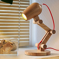 Đèn để bàn bằng gỗ dùng đọc sách, phòng ngủ, bàn học sinh viên học sinh phong cách Bắc Âu VG09
