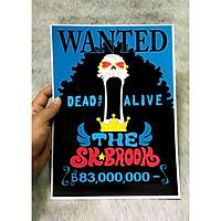 Poster One Piece Brook Mới, Poster Lệnh Truy Nã Brook (Hình dán tường tiện lợi, Chất lượng Full HD)