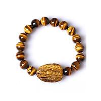Vòng Tay Phong Thủy Đá Mặt Hổ Kết Hợp Mặt Phật May Mắn VPT01