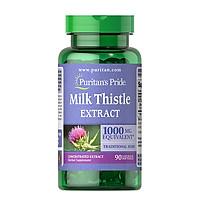 Thực Phẩm Chức Năng - Viên Uống Bổ Gan, Giải Độc Gan, Tăng Cường Chức Năng Gan Puritan'S Pride Milk Thistle Extract 1000Mg (90 Viên)