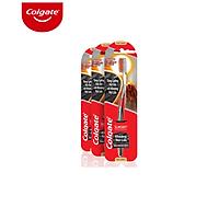 Bộ 3 bàn chải đánh răng Colgate ngăn chảy máu nướu SlimSoft Advanced từ khoáng núi lửa siêu mềm mảnh (Màu ngẫu nhiên)