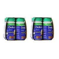 Bộ 2 Lốc Delical vị Vani - sữa dinh dưỡng cao năng lượng (Lốc 4 chai)