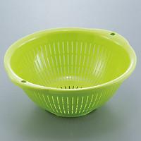Bộ 2 rổ nhựa tròn có tay cầm hai bên (màu xanh) - Hàng nội địa Nhật