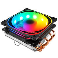 Quạt tản nhiệt CPU Coolmoon T500 Led RGB đảo màu tự động, 5 ống đồng tản nhiệt - Hàng nhập khẩu
