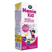 Thùng sữa bột pha sẵn Nutricare Hanie Kid - dinh dưỡng cho trẻ biếng ăn & suy dinh dưỡng (180ml x 48 hộp)