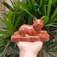 Tượng con mèo gỗ hương