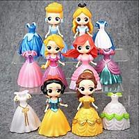 Đồ chơi búp bê thay váy: Set 1 búp bê công chúa Disney cổ tích kèm 3 váy dạ hội thời trang thay đổi (mẫu ngẫu nhiên)