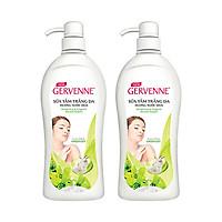 Combo 2 Sữa tắm Trắng da Hương nước hoa Gervenne Green Lily (900g/chai)