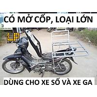 Baga giá chở hàng xe máy đa năng có mở cốp 70.70cm lắp cho xe Ga & xe Số