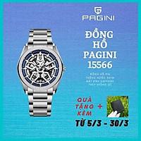 Đồng hồ nam PAGINI dây thép không gỉ kim trôi cực phong cách - Chống nước 3ATM - Mặt kính chống xước cao cấp - PA15566- PHỤ KIỆN THỜI TRNAG CAO CẤP !!