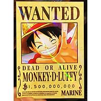 Combo 30 Thẻ bài truy nã - Wanted Poster nhân vật One Piece - Khổ 6.3 x 9 cm