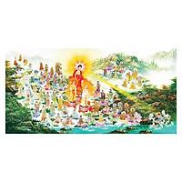 Tranh Phật Giáo Tây Phương Tiếp Dân 2465 (30 x 60 cm)