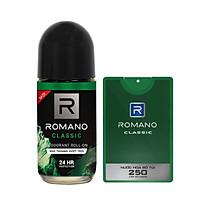 Combo Romano Classic: Lăn khử mùi 50ml và nước hoa bỏ túi 18ml