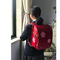 Cặp sách chống gù lưng Nhật bản màu đỏ