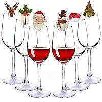 10 Pcs/set Cup Card Wine Glass Decoration Home Table Place Decorations Christmas Party Supplies