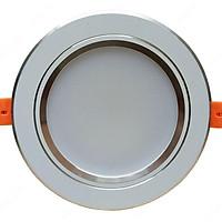 Combo 5 đèn âm trần 7w ba chế độ màu viền bạc
