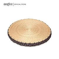Đệm cói ONGTRE ngồi bệt vuông/Tròn có mút xốp đàn hồi (40cm) - Đệm tròn (Màu nâu)