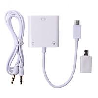 Cáp MHL To VGA Video Audio Cable Adapter Dùng cho Điện Thoại AZONE