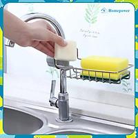 Kệ Inox 304 Để Dụng Cụ Rửa Chén Bát Cạnh Vòi Rửa Tiện Lợi Homepower