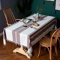 Khăn trải bàn KBCC19 MARYTEXCO chất liệu cotton thêu, đường may tinh xảo, viền tua rua sang trọng phù hợp với những không gian cao cấp, đem lại nét đẹp tinh tế cho căn phòng
