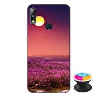 Ốp lưng điện thoại Asus Zenfone Max Pro M2 hình Hoa Tím Hoàng Hôn tặng kèm giá đỡ điện thoại iCase xinh xắn - Hàng chính hãng