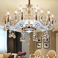 Đèn chùm YOSINO pha lê 15 tay hiện đại trang trí nội thất - kèm bóng Led chuyên dụng