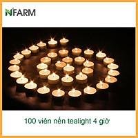 Hộp 100 Viên Nến Tealight Sáp Cọ N'Farm An Toàn Sức Khỏe (4 giờ)/ Dùng kết hợp đèn xông và tinh dầu/ Khử mùi và đuổi côn trùng hiệu quả.