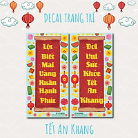 Tết An Khang - Bộ 2 tấm 40x80cm decal trang trí tết
