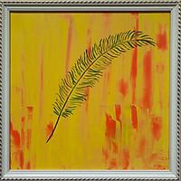 Tranh sơn dầu lá rừng nhiệt đới 01